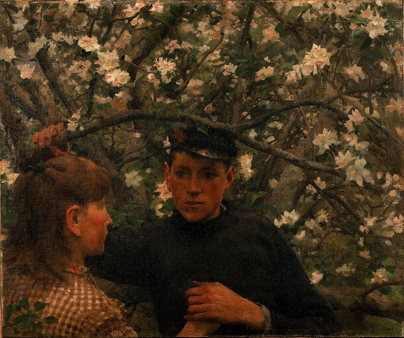Henry Scott Tuke - The Promise (1888)