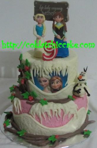 Kue ulang tahun disney frozen