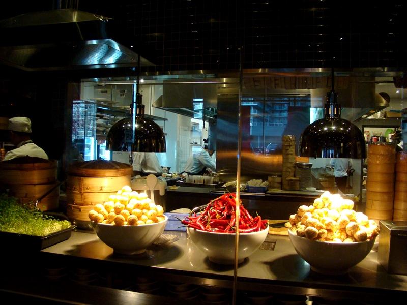Luckee Restaurant kitchen