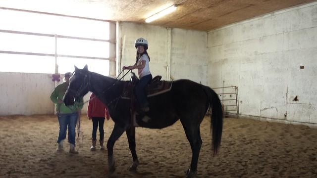 Mimi rides Diamond