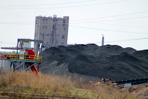 East Side Chicago residents & allies protest the piles of petcoke being dumped into the community. The dust blows off the uncovered piles & into people's homes & lungs.