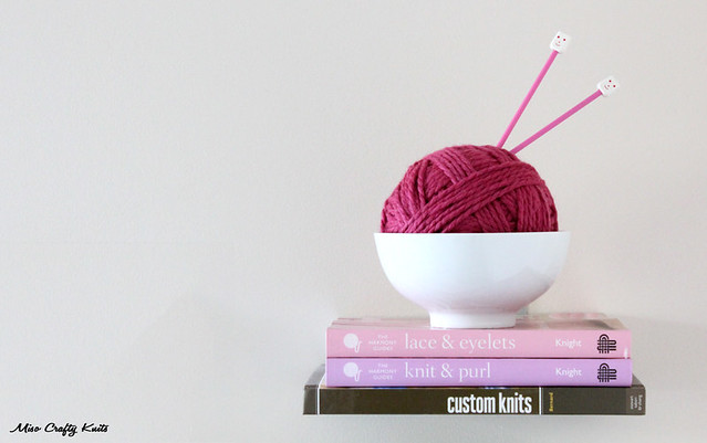 Yarn bowl and books