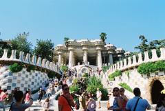 Parc Guel. Barcelona. Spain