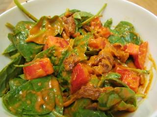 Smoky Spinach and Tomato Salad
