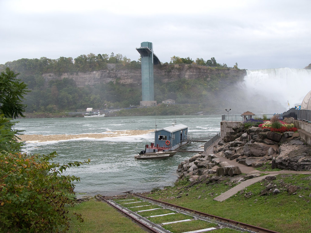 View of the Niagara River while waiting in line for the Maid of the Mist