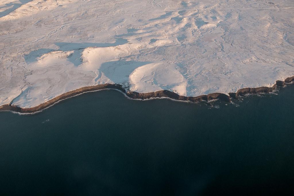 coastline, aerial