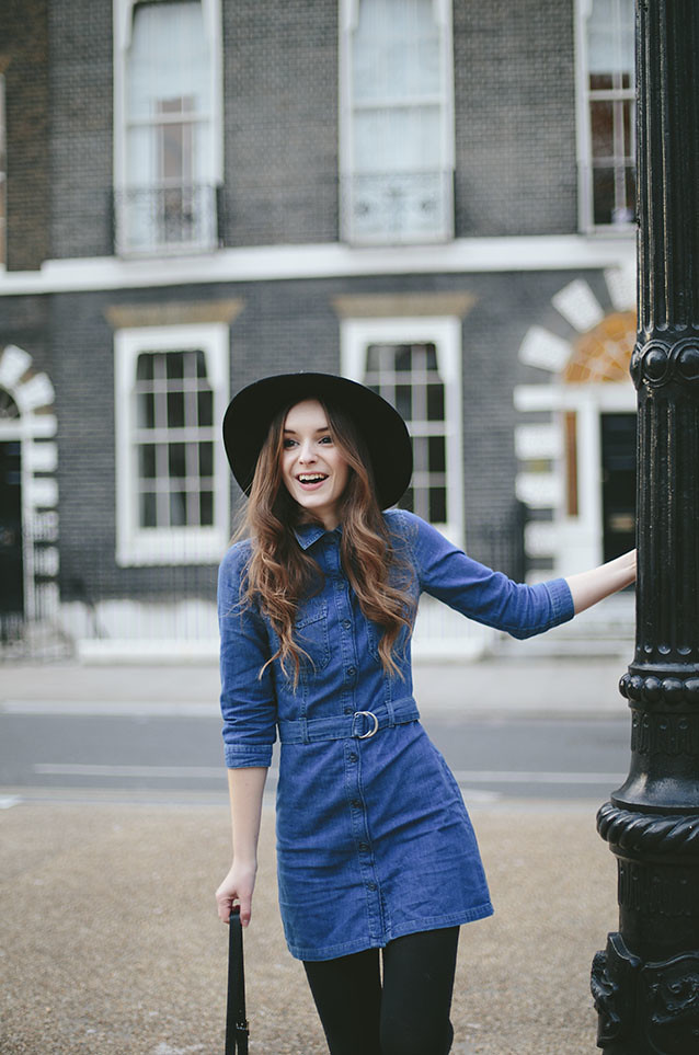 What Olivia Did Miss Selfridge Denim Dress