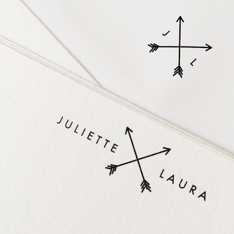 Little Ivy Paper Goods Customized Stationary on juliettelaura.blogspot.com
