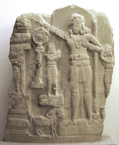 A c. 1st century BCE Indian relief from Amaravathi village, Andhra Pradesh. From wikimedia.org