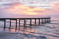 Dock at sunrise