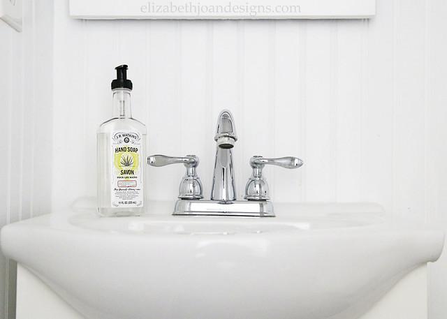 Beadboard Bathroom Sink