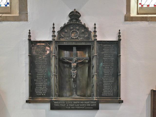 St Peter's Harrogate Yorkshire, War Memorial.