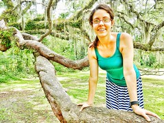 I love traveling with this amazing woman! Even when she's scared to jump down from a tree branch!!