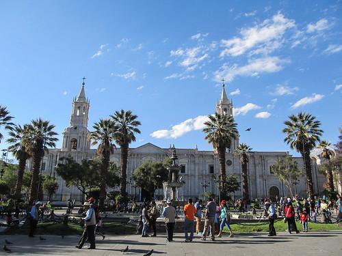 Arequipa: la Plaza de Armas et sa Cathédrale