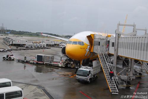 停靠成田機場的酷航