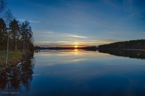 water sunrise finland river dawn imatra vuoksi southkarelia