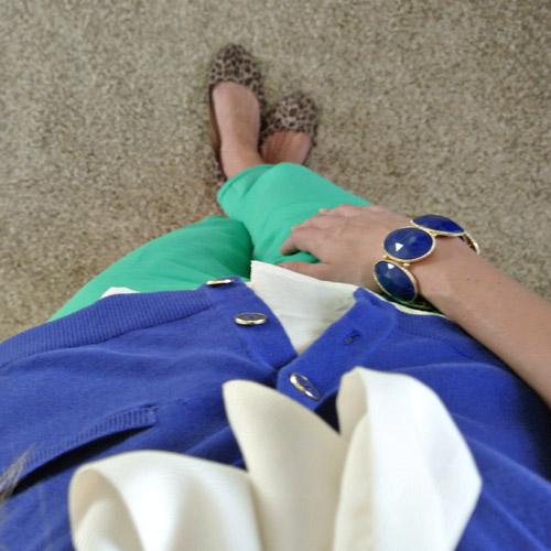 OOTD: cobalt + kelly green 3