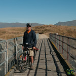 Dan Bikes Along Rail Trail - Central Otago, New Zealand