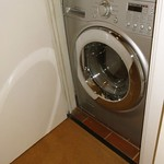 Combination washer and dryer in apartment