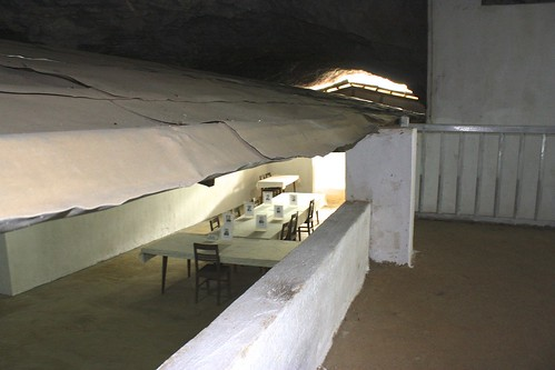 buildings were built inside the caves to make them more livable--no water dripping interrupting important meetings