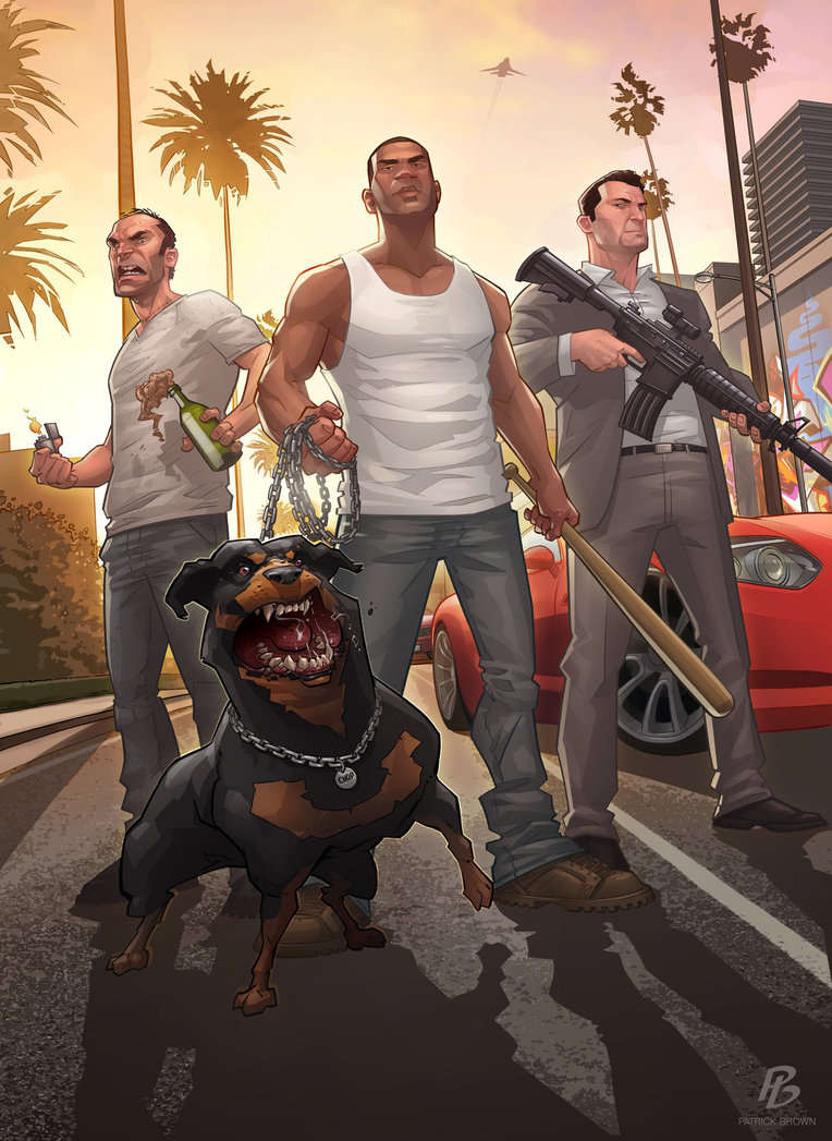 'Grand Theft Auto V - The Standoff' - Patrick Brown