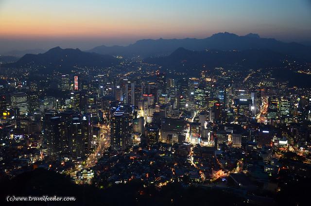 Panorama view of Seoul