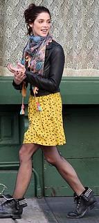 Ashley Greene Studded Biker Boots Celebrity Style Women's Fashion