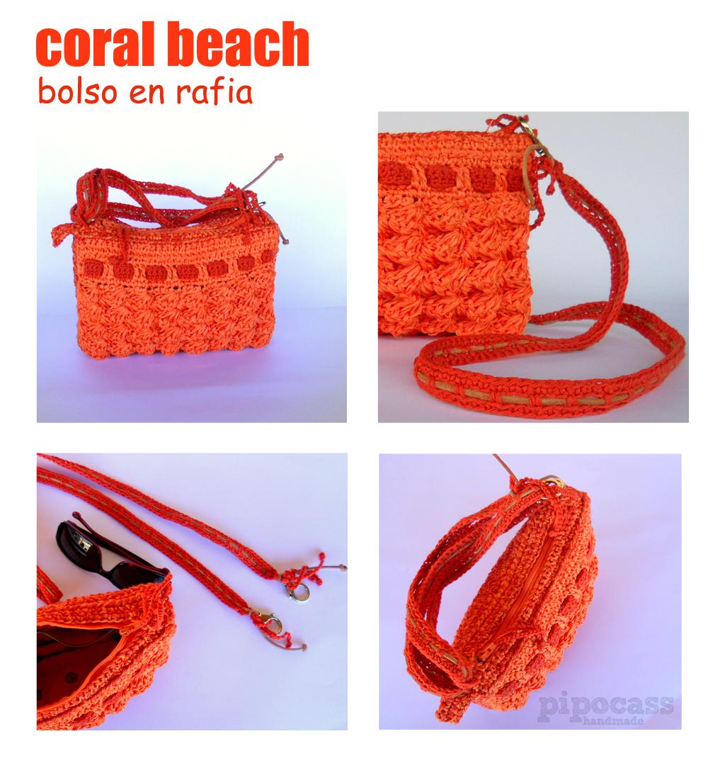 Detalles bolso Coral beach