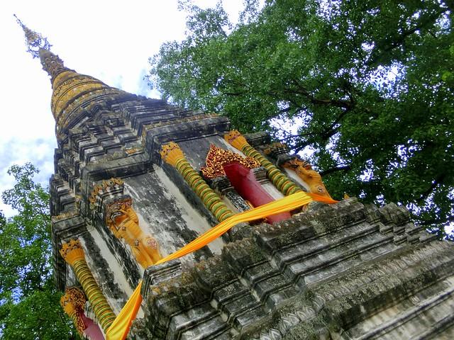Stupa in Wat Sri Suphan in Chiang Mai, Thailand