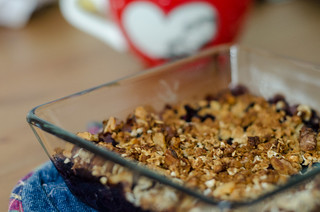 Blueberry Crisp from Shauna Niequist's new book Bread and Wine in a book review written by Krista Cannon on chrisandkrista.org