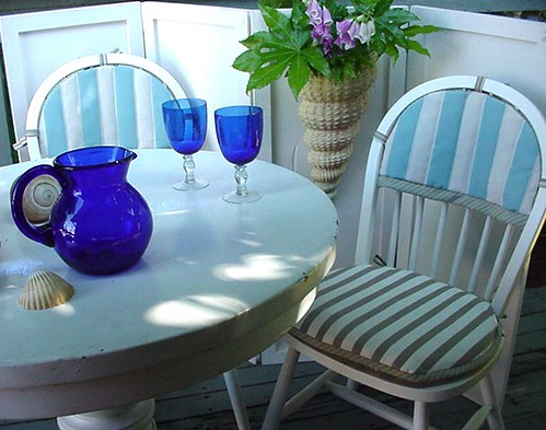 Two Chairs-Wall Shell-Blue Glasses-7x5