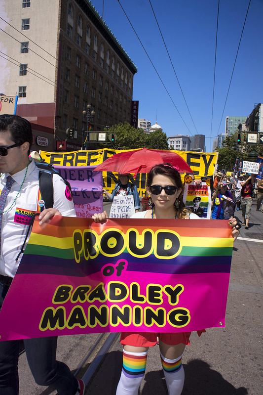 Free Bradley Manning, San Francisco Pride 2013