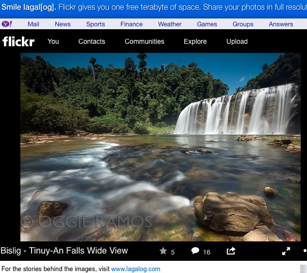 Bislig - Tinuy-An Falls as seen on Lagalog Flickr