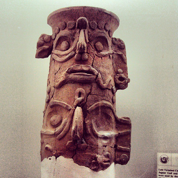 Ancient mayan artifact found at the Cahal Pech site in San ...