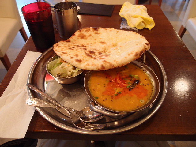 Dal Curry + Cheese naan @ Shanti @ Komagome