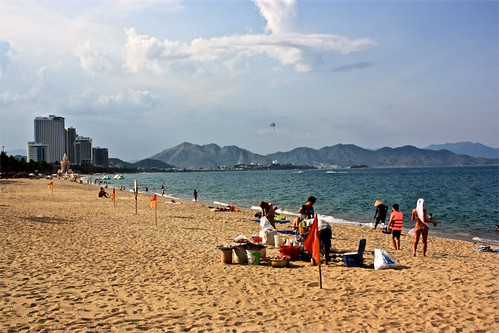 The main beach on Nha Trang