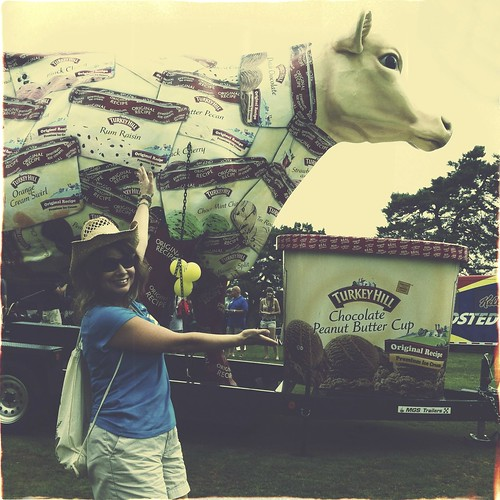 Me and the giant Turkey Hill cow.
