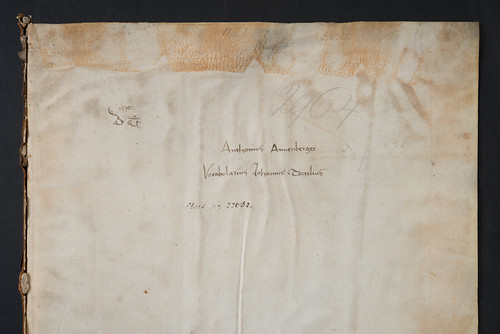 Early manuscript ownership inscription in Tortellius, Johannes: Orthographia