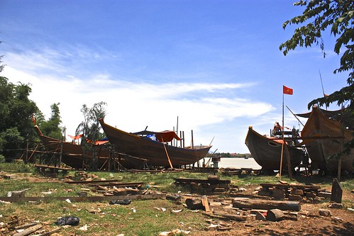 a shipyard on Cam Kim island