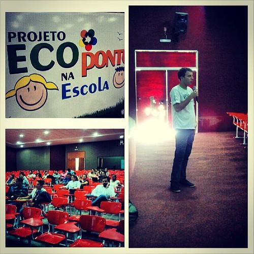 Capacitação com o presidente Fernando Nunes do Instituto #IDAHRA aos professores - Projeto Ecoponto na Escola.
