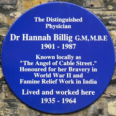 Photo of Hannah Billig blue plaque