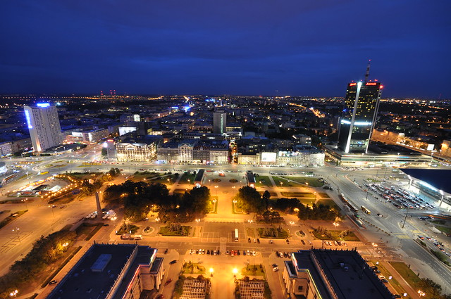 Warsaw as seen from the Palace of Culture and Science