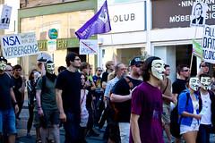 FSA (Freiheit statt Angst) Wien - mit Menschen