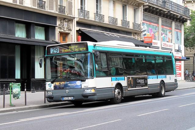 ratp paris bus 7953 29 porte de montempoivre to gare st lazare 110813 flickr photo sharing. Black Bedroom Furniture Sets. Home Design Ideas