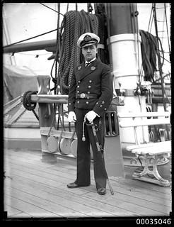 Chilean navy officer, probably a Midshipman (Guardiamarina), on board GENERAL BAQUEDANO
