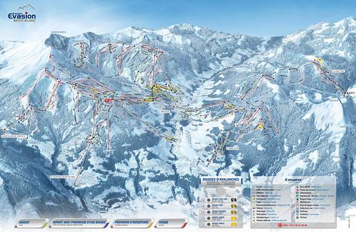 Megeve / Evasion Mont Blanc - mapa sjezdovek