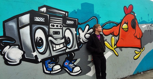 boombox-art street art los angeles