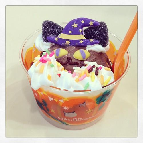 Halloween Black Cat Ice Cream