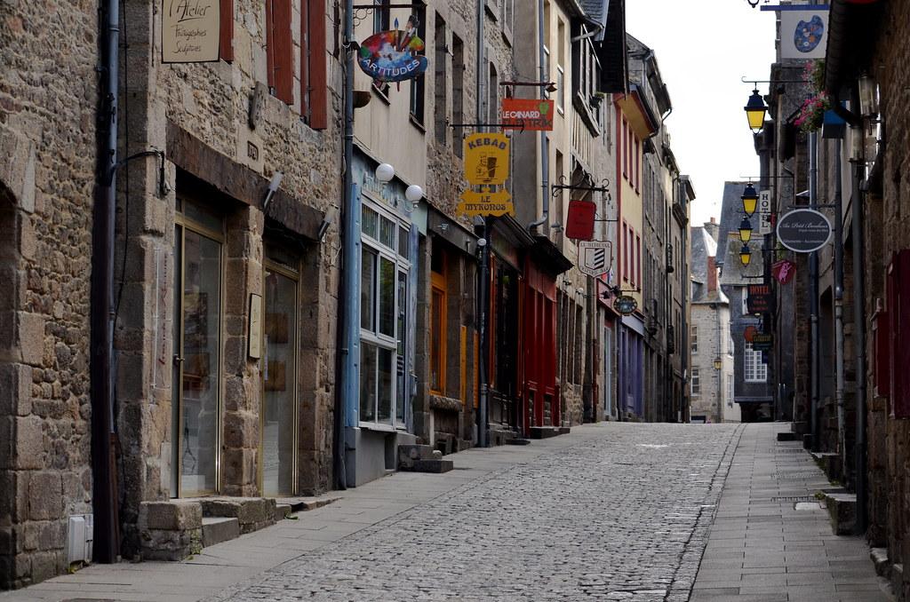 Empty street in Dinan