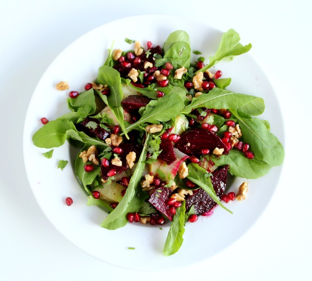 Roasted Beetroot, Leek & Walnut Salad 4